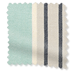Tutbury Stripe Aqua Curtains slat image