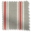 Twill Stripe Linen Strawberry Curtains slat image