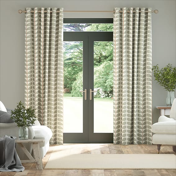 Two Colour Stem Warm Grey Curtains