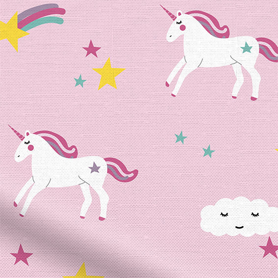 Pink Childrens Curtains To Go Exclusive Unicorn Designs