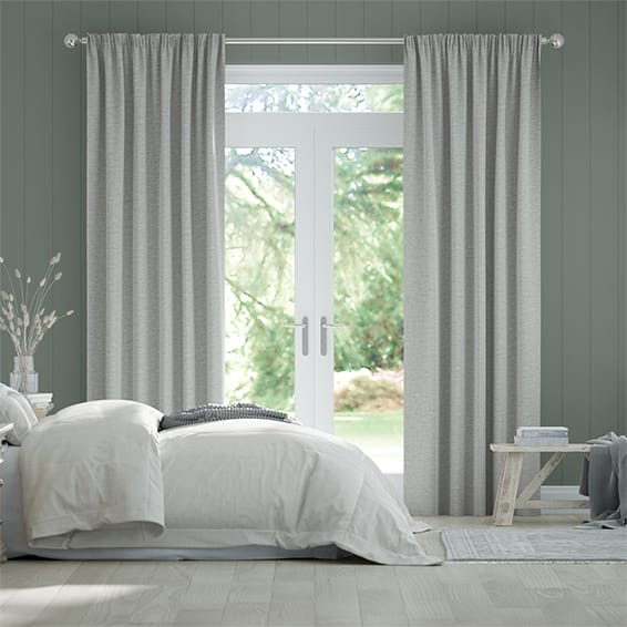 Plush Soft Grey Curtains