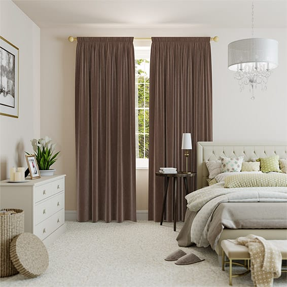 Velvet Taupe Curtains