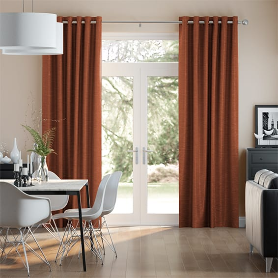 Vicenza Faux Silk Burnt Copper Curtains
