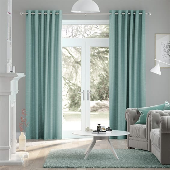 Vicenza Faux Silk Jade Curtains
