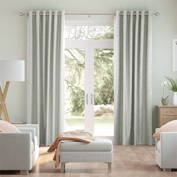 Vicenza Faux Silk Quicksilver Curtains
