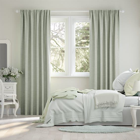 Vicenza Faux Silk Sage Curtains