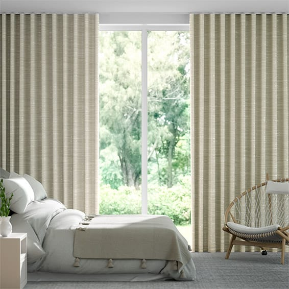 Wave Ahisma Luxe Faux Silk Gilt  Curtains