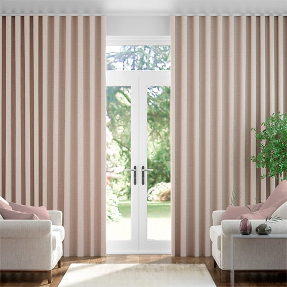 Wave Cavendish Warm Blush  Curtains