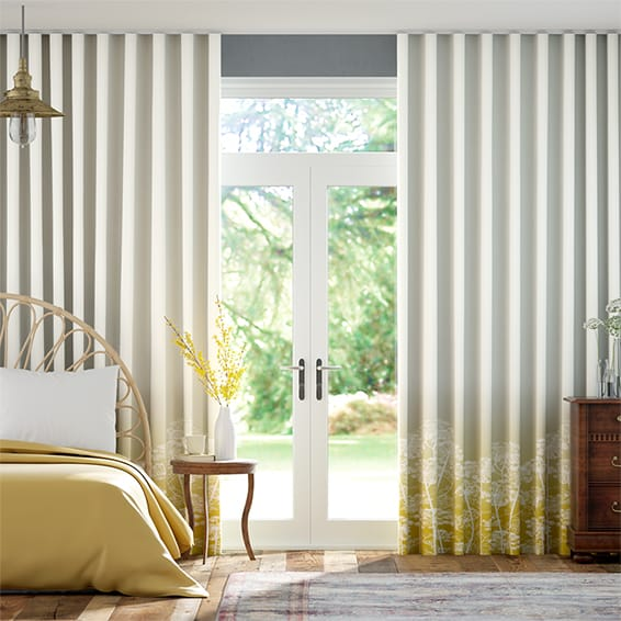 Wave Dill Ochre Curtains