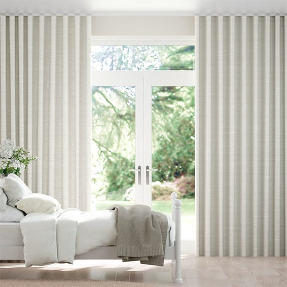 Wave Dupioni Faux Silk Oyster  Curtains