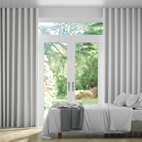 Wave Elision Silver Curtains