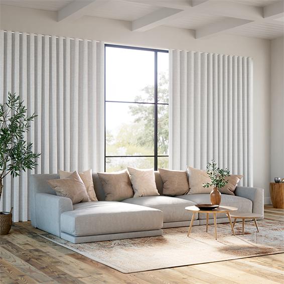 Wave Bijou Linen White Curtains