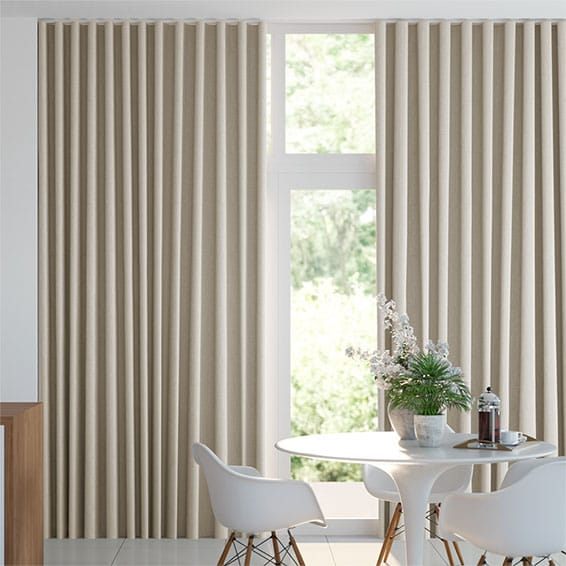 Wave Linen Natural Curtains