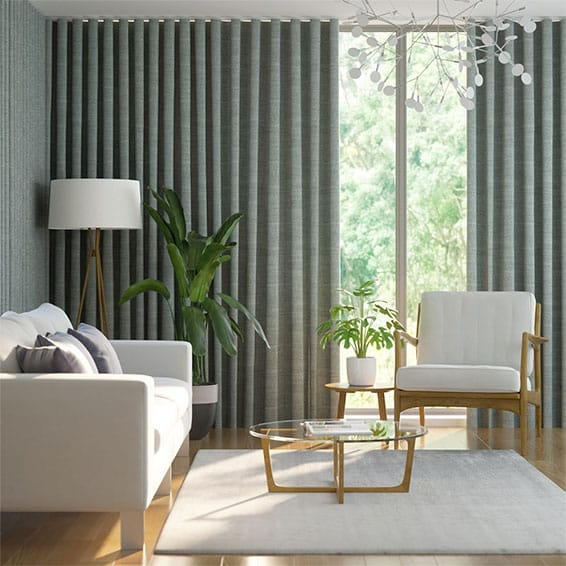 Wave Witley Silver Curtains
