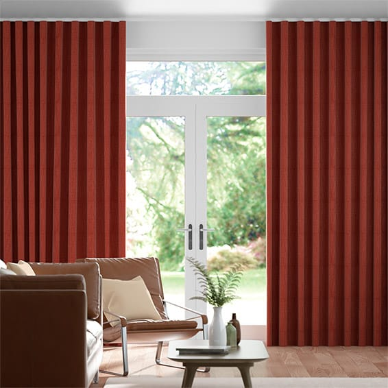 Wave Harrow Pumpkin Spice Curtains