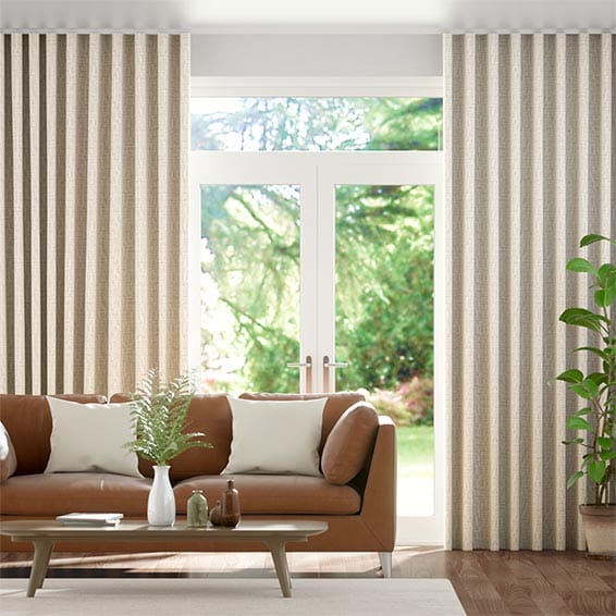 Wave Hermia Pale Bronze Curtains