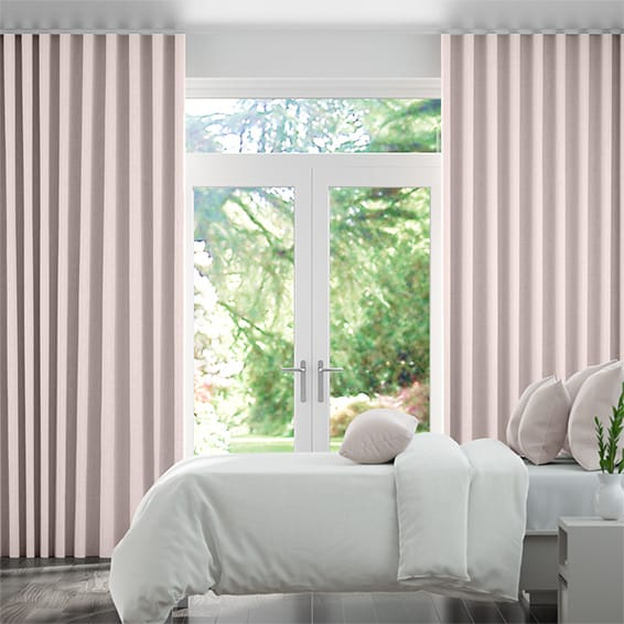 Wave Kirkland Soft Pink Curtains