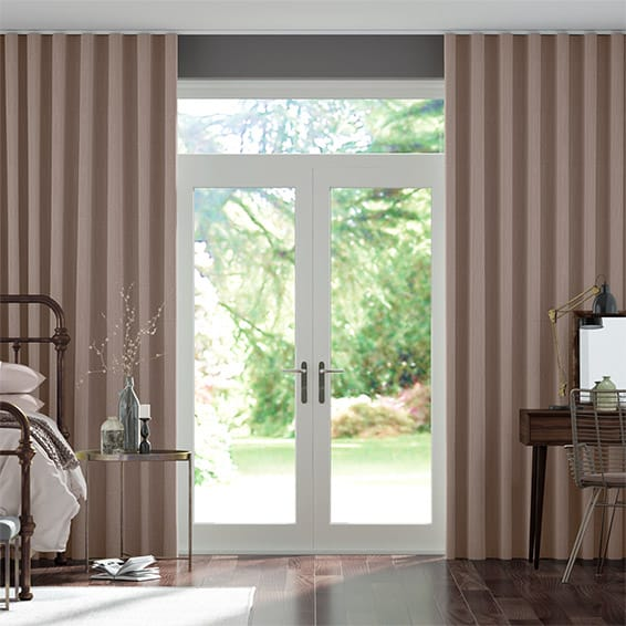 Wave Paleo Linen Dusky Pink  Curtains