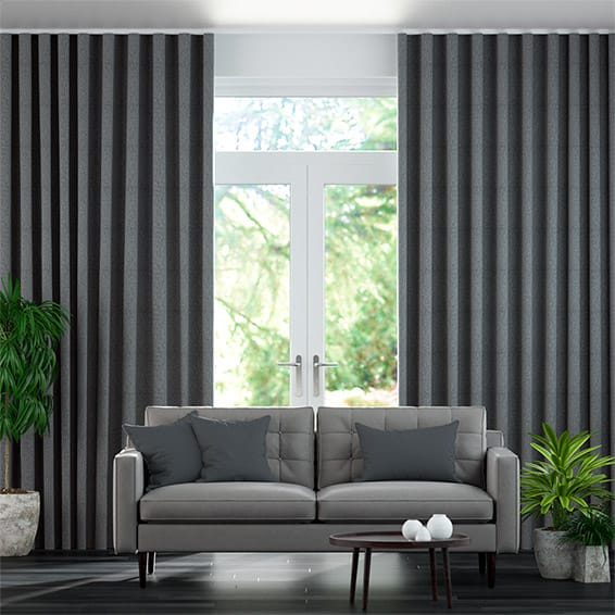 Wave Waycroft Slate Curtains