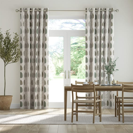 Wildleaf Linen Natural Curtains