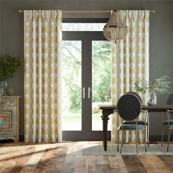 Winter Leaf Biscotti Curtains