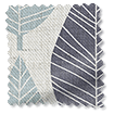 Winter Leaf Linen Gentle Blue Curtains slat image