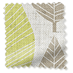 Winter Leaf Linen Spring Green Curtains slat image