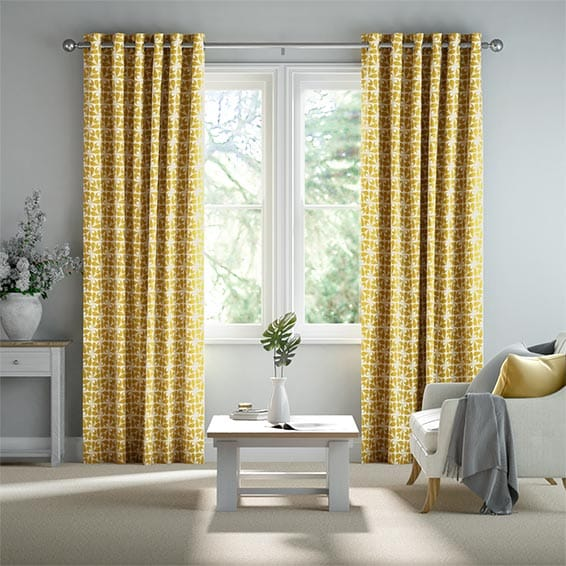 Woven Acorn Cup Dandelion Ready Made Curtains