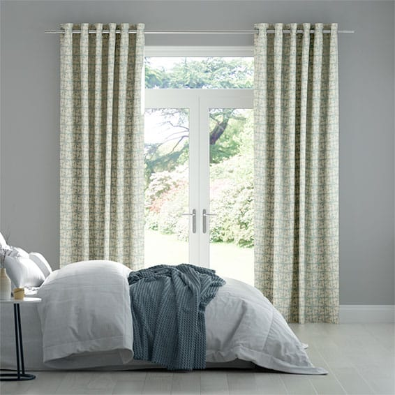 Woven Acorn Cup Mid Powder Blue Curtains